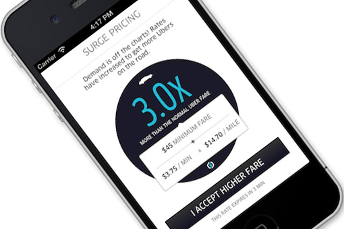 The Uber taxi app for iPhone and Android.