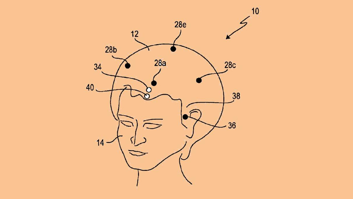 Sony's SmartWig in its guise as an aid to navigation (Image: USPTO Patent Application Publication US20130311132)