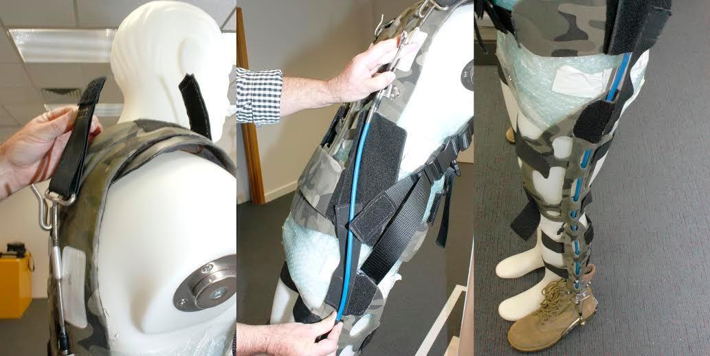 The Australian military's weight-diverting prototype exoskeleton