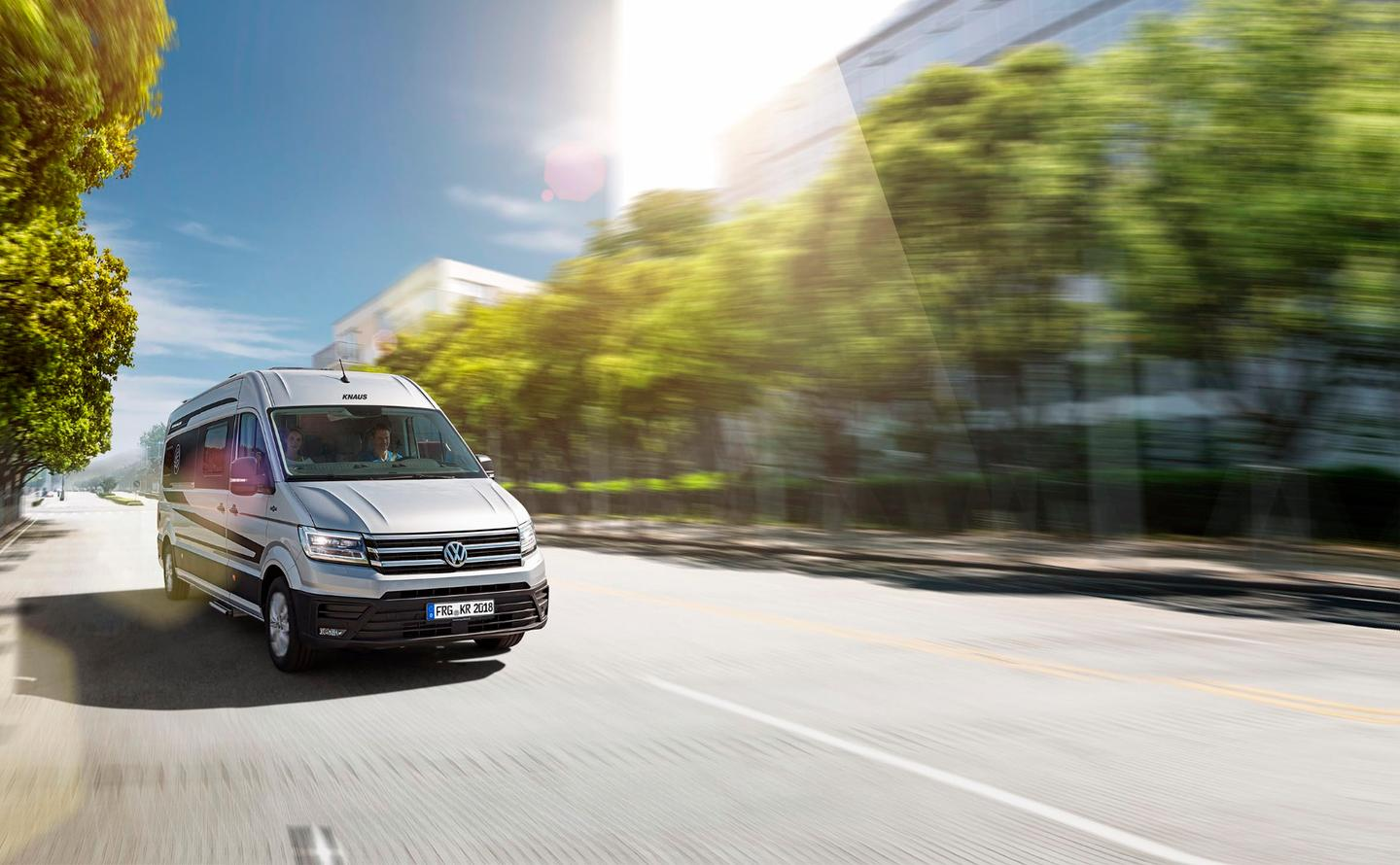 Knaus turns the newest Volkswagen Crafter van into the Boxdrive camper