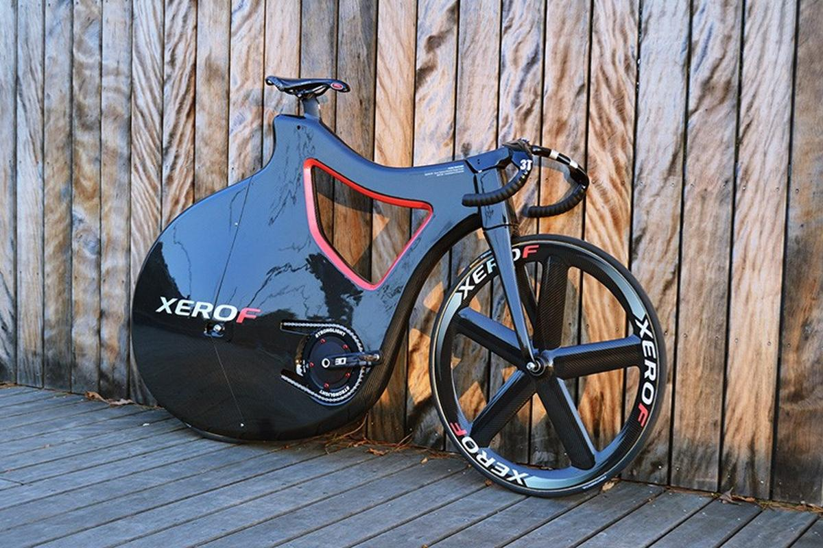 The Pluma Track Bike may be lightweight and aerodynamic, but its design is also intended to protect the rider