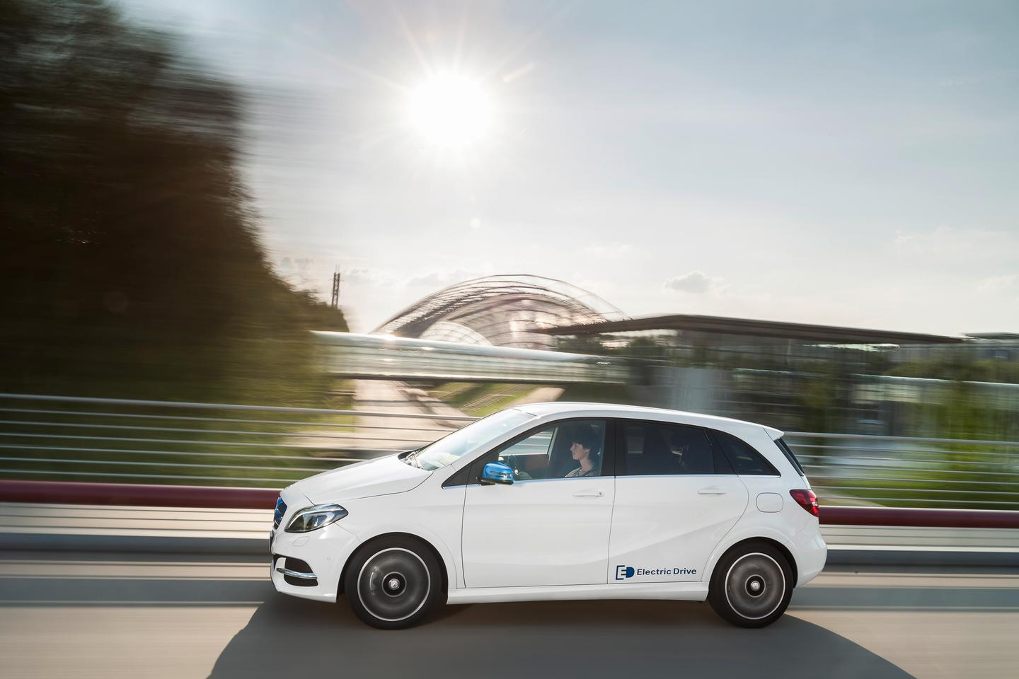 There is no word on how far the Electric Drive B-Class' can travel between charges