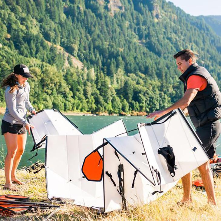 Oru says it has shaved a few moments off the setup time of its Coast XT folding kayak thanks to what it calls zipper channels