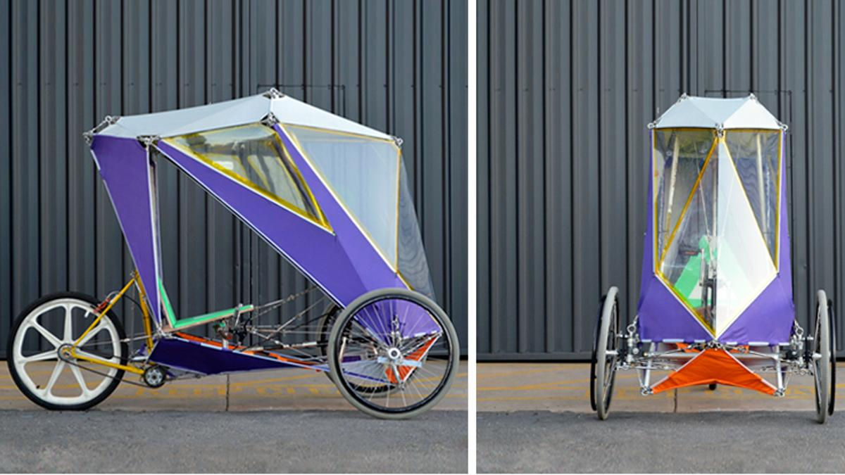 """""""The project challenge was to design a DIY build system for a velomobile from easy-to-source materials with easy-to-access tools"""""""