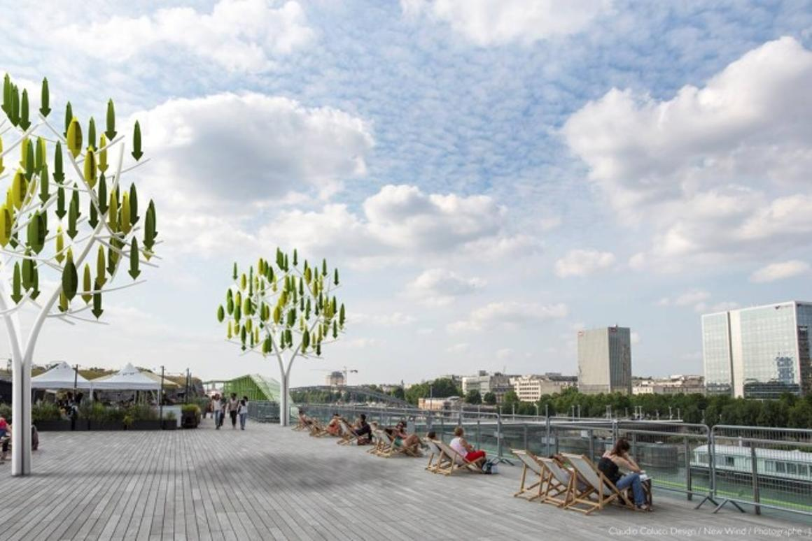 The Wind Tree turbine is designed to generate power from low-speed winds