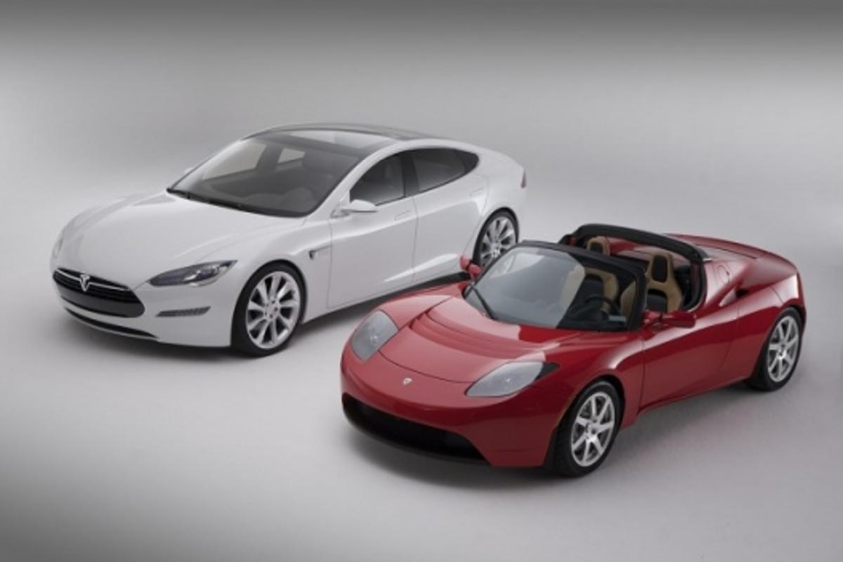 Tesla model S and Roadster
