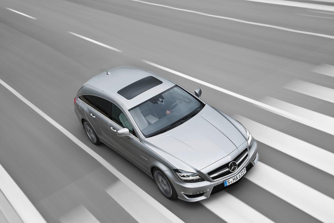The Mercedes-Benz CLS 63 AMG Shooting Brake that will be available in October