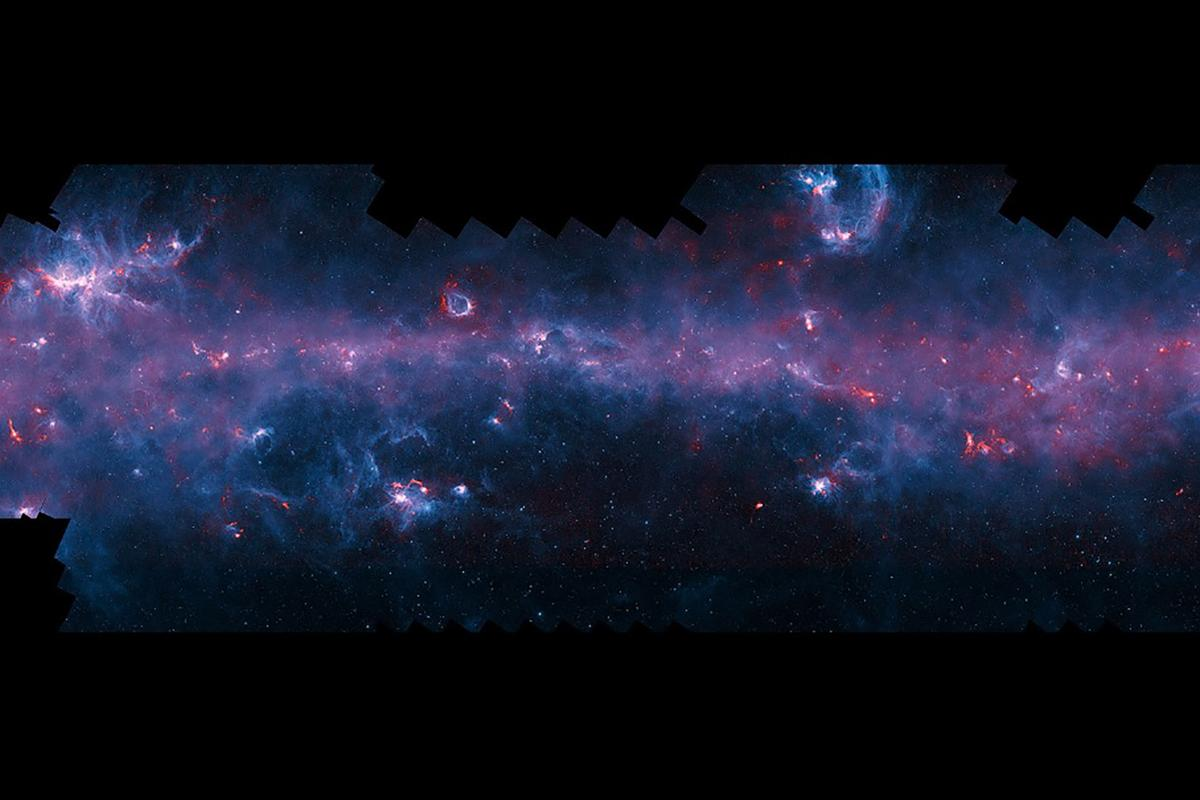The survey is the first time that the entire Galactic Plane, as visible from the southern hemisphere, has been mapped at submillimetre wavelengths