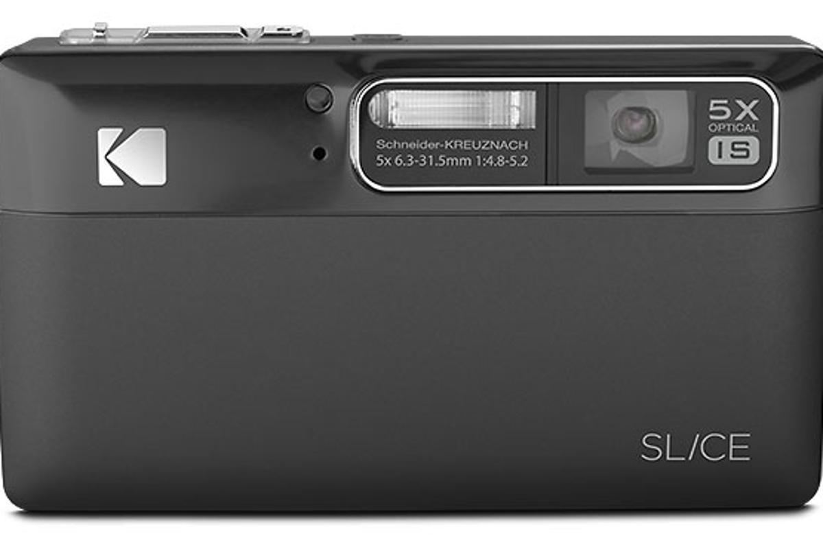 The Kodak Slice Touchscreen camera combines a 2GB internal memory with facial recognition and tagging capabilities