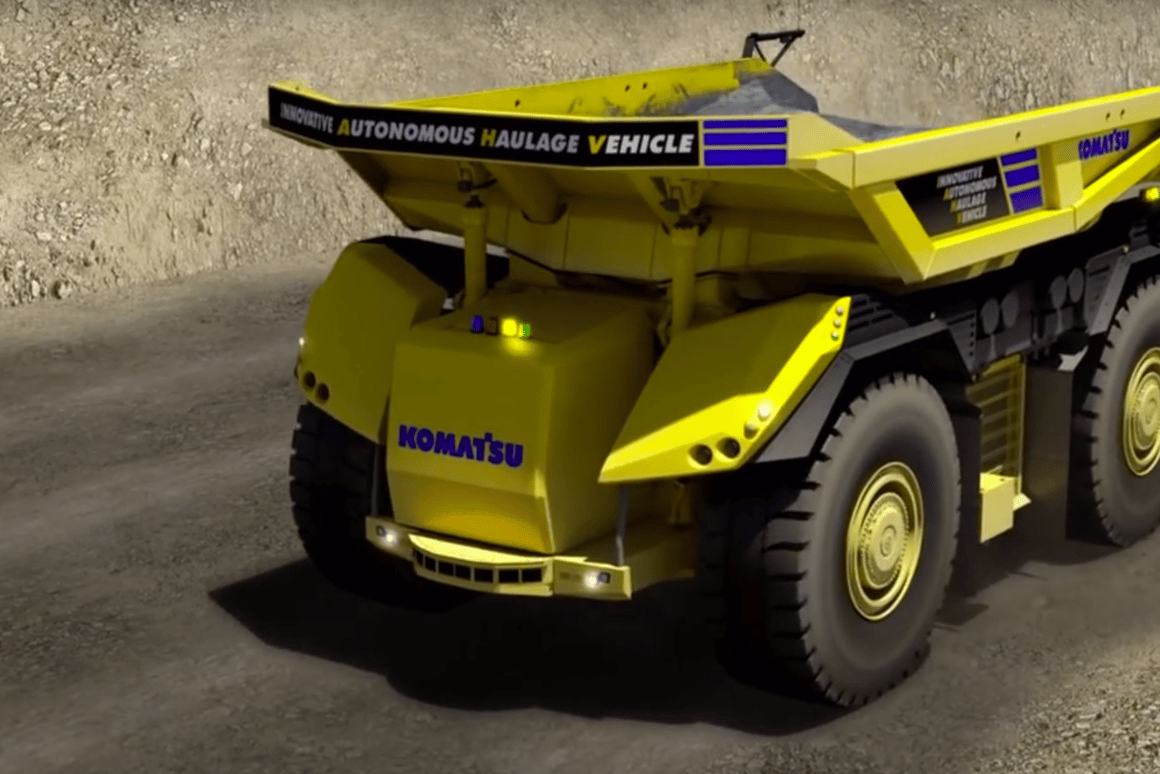 Komatsu's Innovative Autonomous Haulage Vehicle has no room for a driver