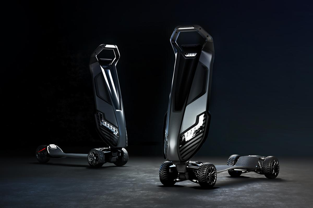 The Dragonfly Hyperscooter is available in three-wheel and four-wheel variants