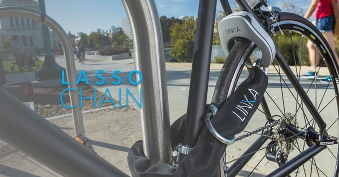 Linka offers a traditional lasso chain for extra security