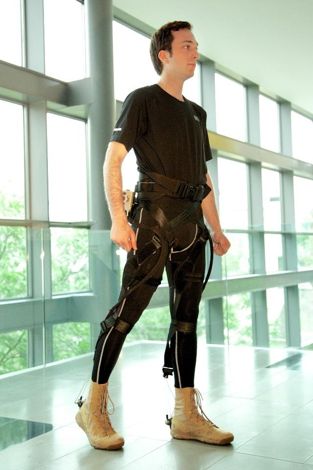 The exosuit is designed to help sufferers of conditions such as MS to regain mobility