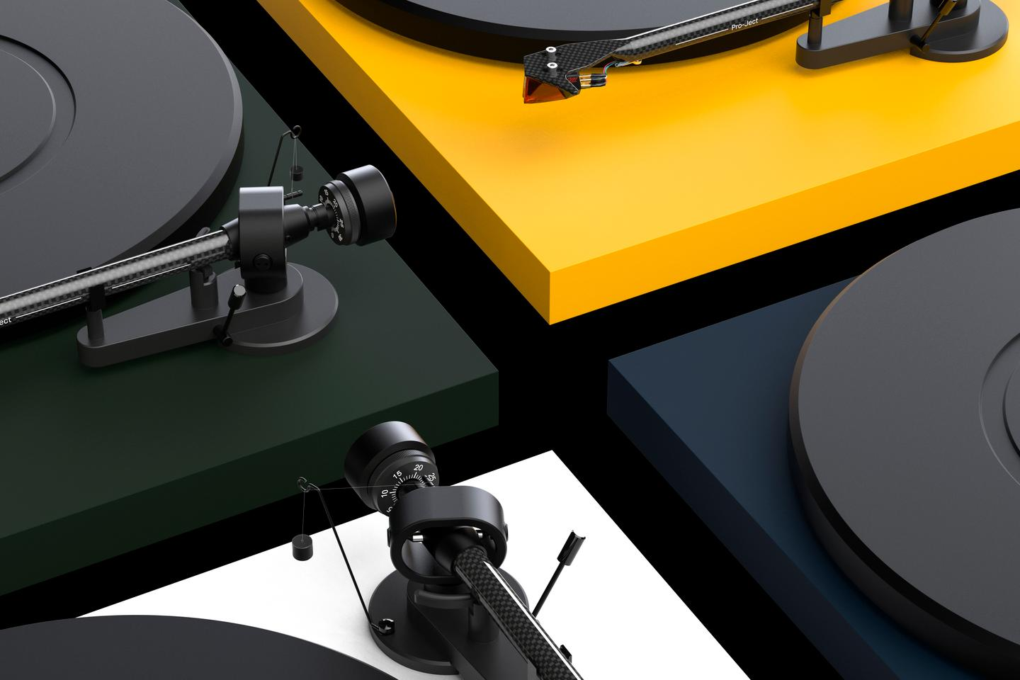 The Debut Carbon Evo turntable is available in nine finishes