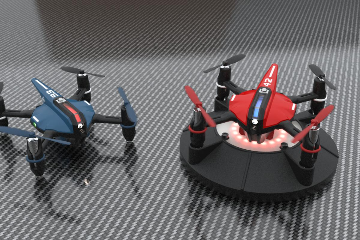 Drone n Base pairs quadcopters with interactive bases