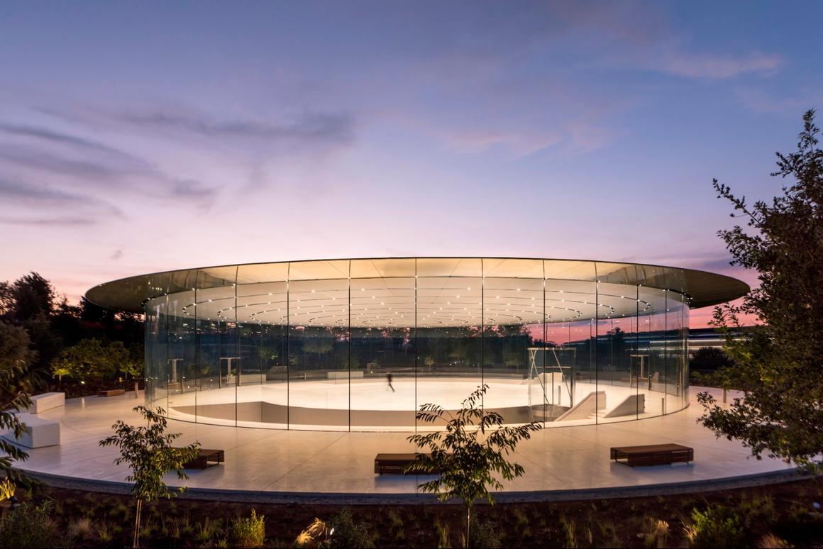 The Steve Jobs Theater Pavilion in California was given the Award for Structural Artistry