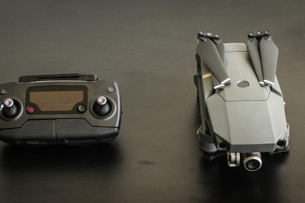 DJI Mavic Pro: folds away to a tiny package