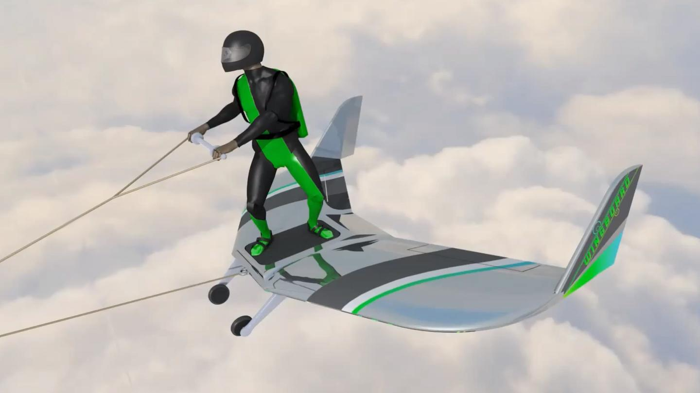 Its creator says WingBoarding is intended to be no riskier than skydiving