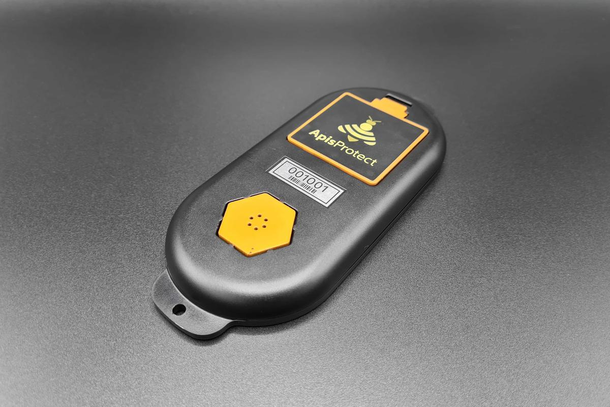 Each ApisProtect sensor device is powered by four AAA batteries