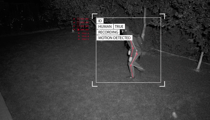 1080p video and alert notifications will only be sent if a human intruder is detected by the Eyecloud Cam