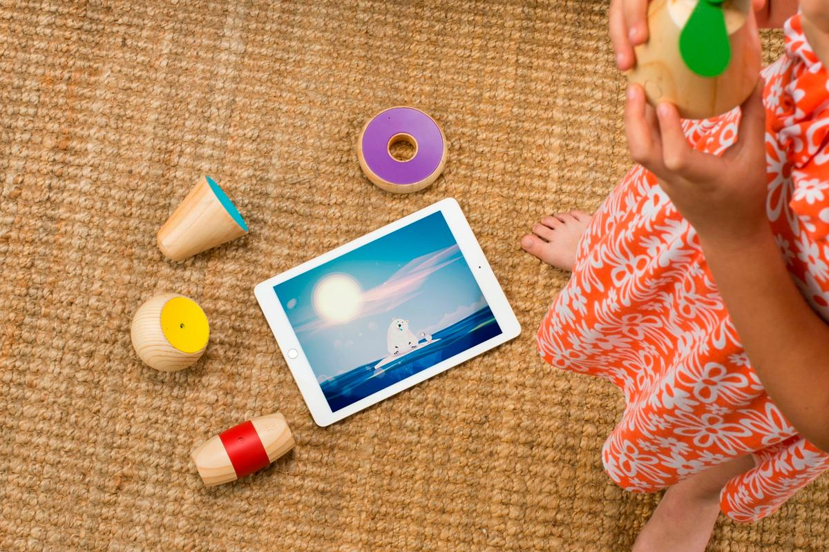 Yibu is designed to provide children with an introduction to technology, while giving them physical toys to interact with