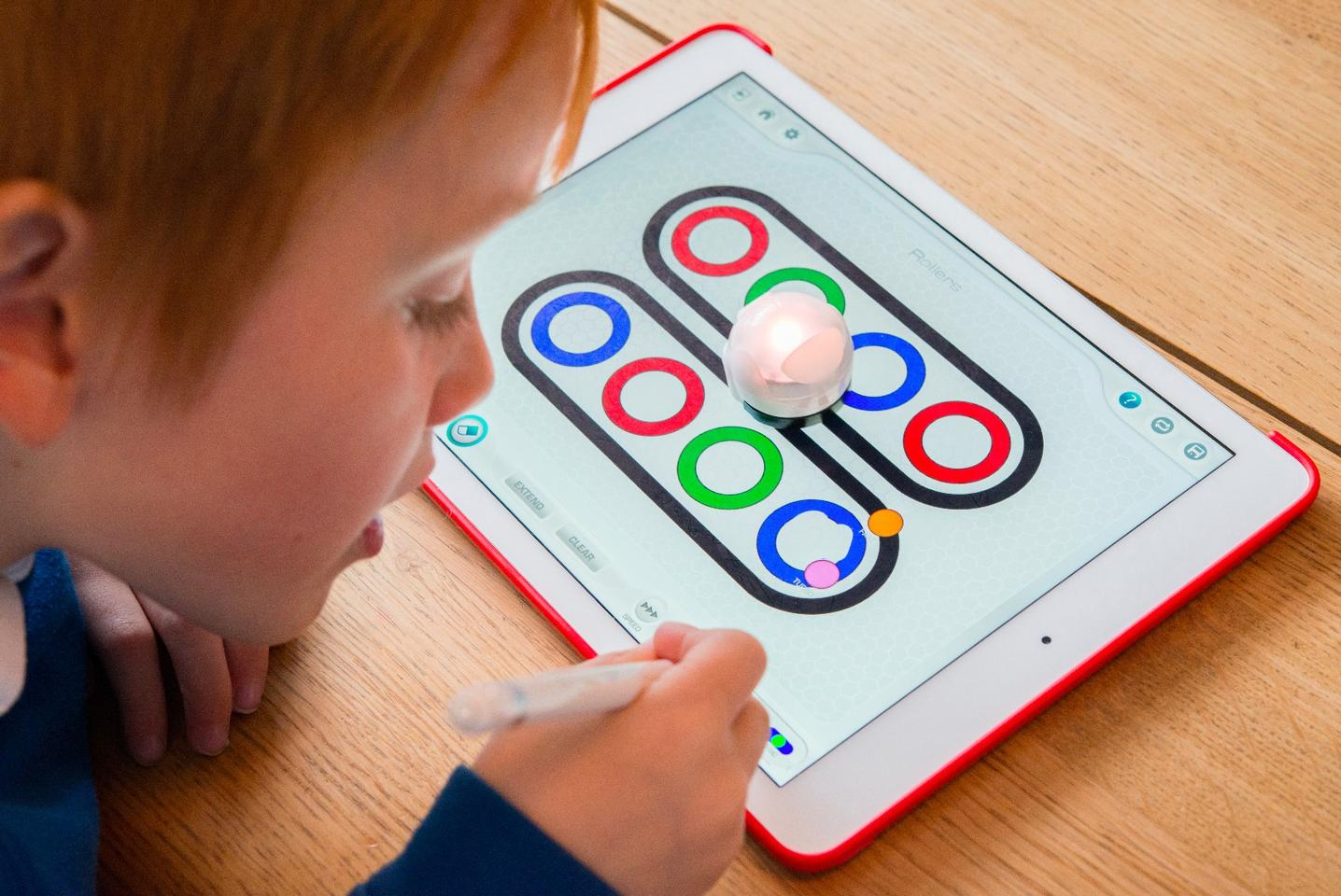 Ozobot is a line-following robot which can be toldto perform actions whenever it crosses a code of coloreddots