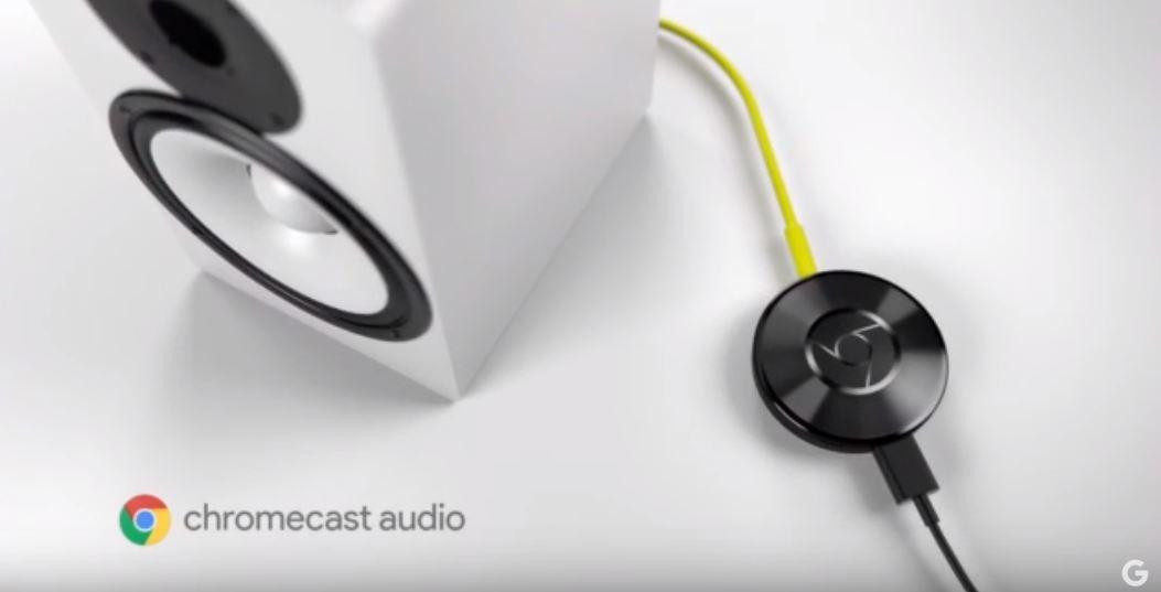 Chromecast Audio connected to a speaker