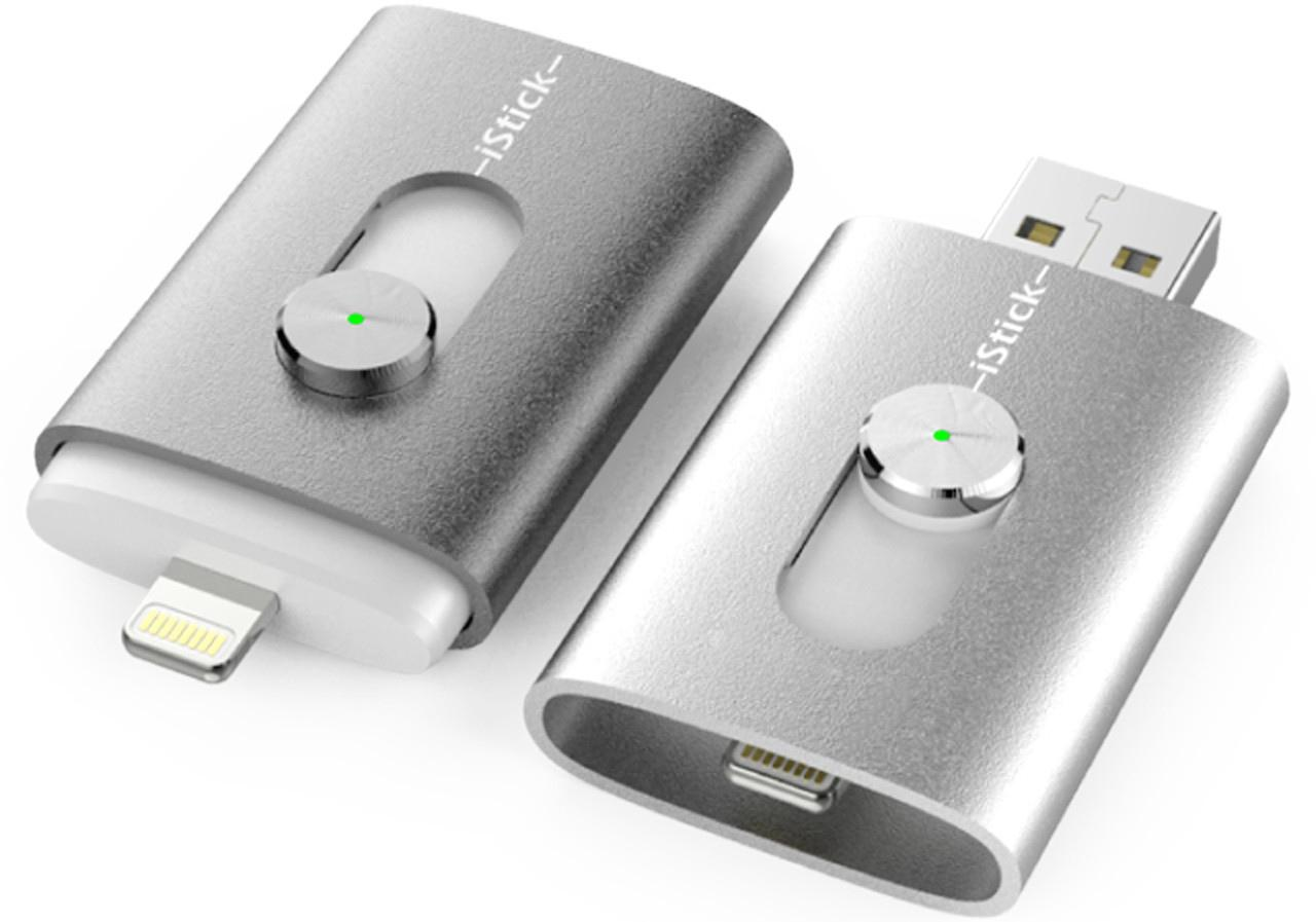 The iStick features both Lightning and USB connectors
