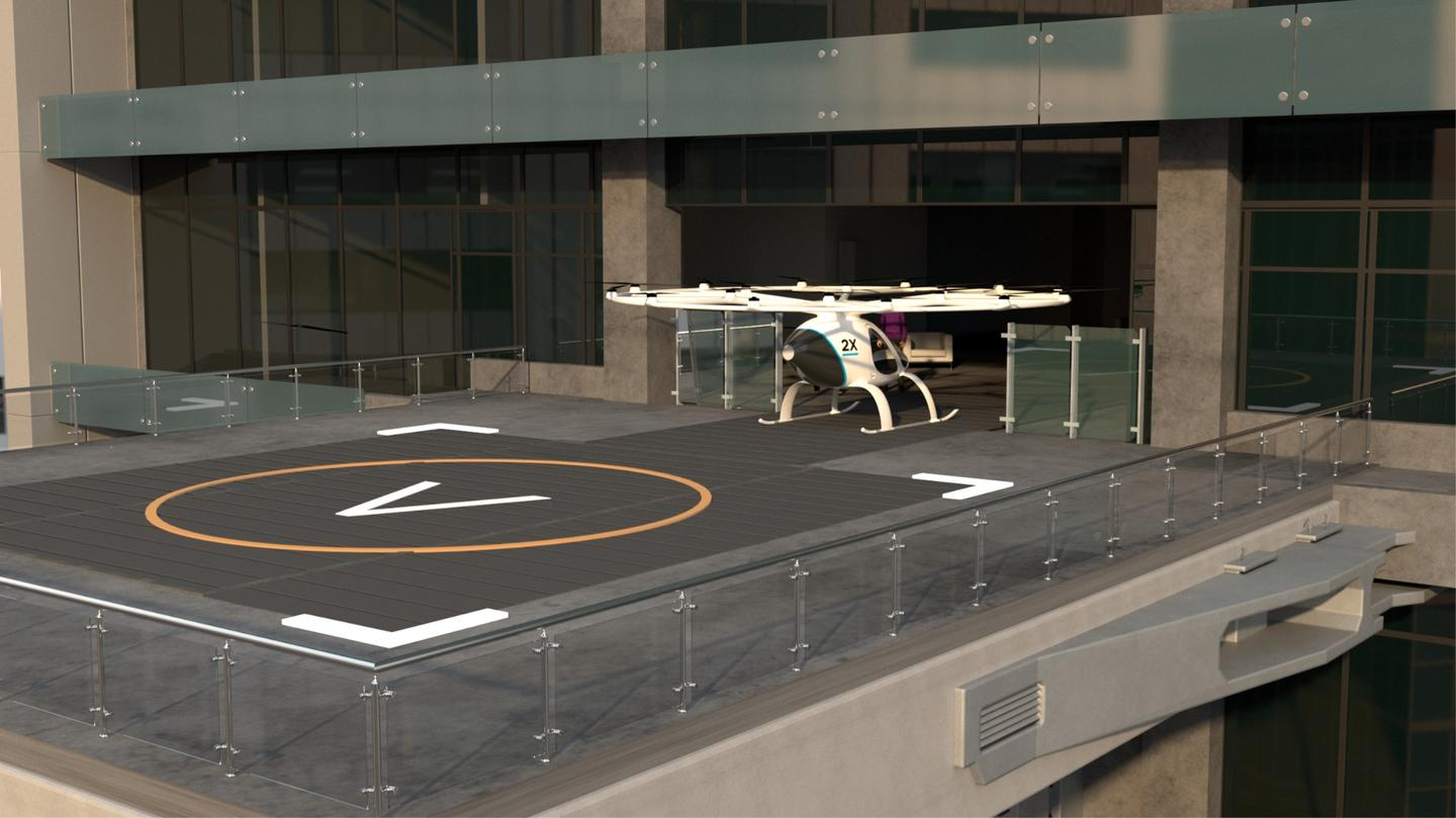German aviation company Volocopter has today shared its plans for urban air taxi infrastructure