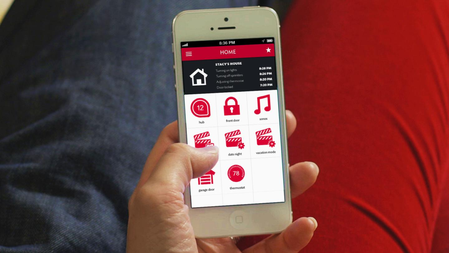 Revolv's app allows users to set their automation scenarios and triggers