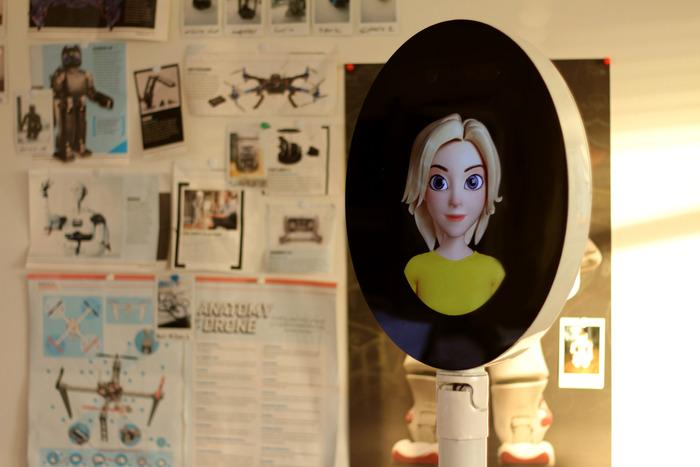 The digital appearance of the robot can be personalized at will