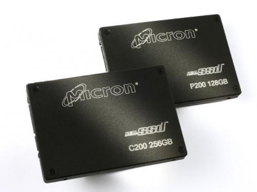 Micron's new P200 and C200 Solid State Drives.