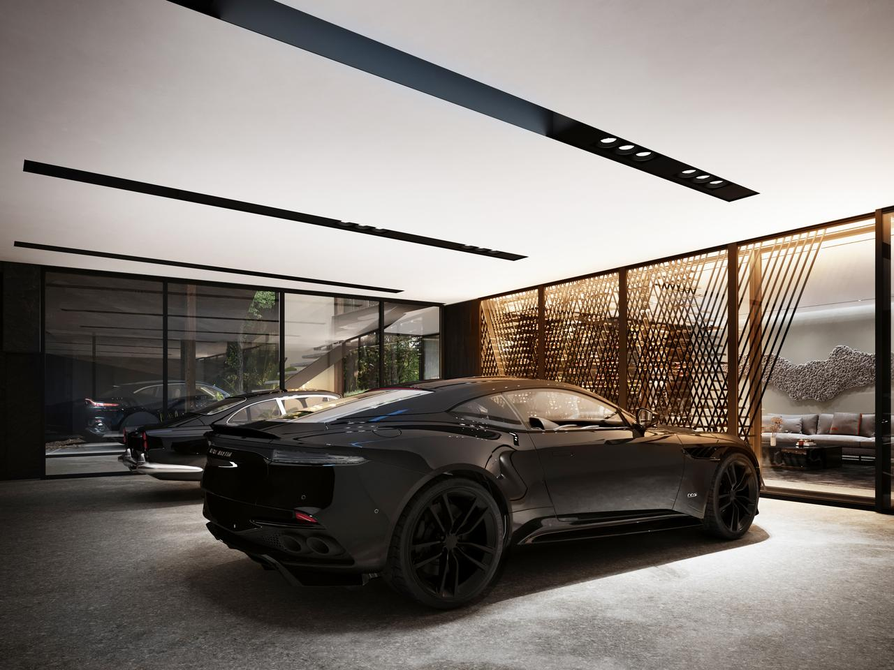 Sylvan Rock will come with an impressive three car garage and an Aston Martin DBX is recommended as an excellent complement to the home, but you'll need to supply your own