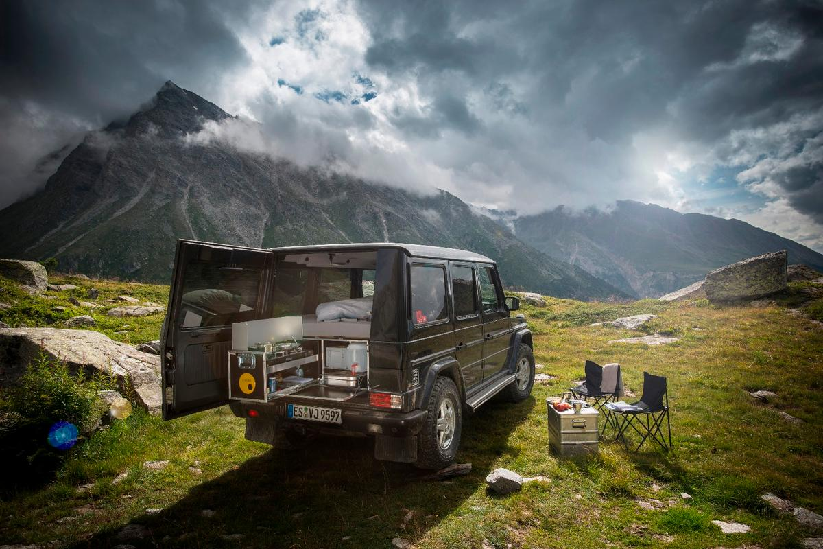 The G-Class is more rugged than other vehicles Ququq has served in the past, laying way for deeper, more adventurous camping trips