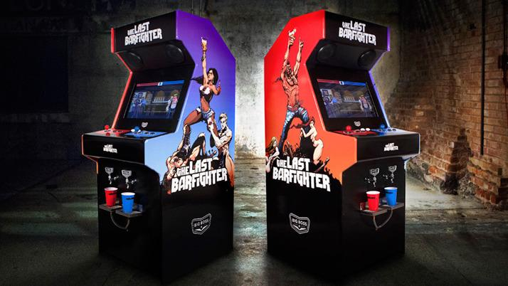 Developed for Big Boss Brewing, the Beercade machine is a fighting game that takes cups instead of quarters and dispenses beer to the winning player