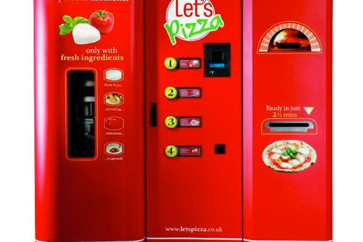 Let's Pizza vending machines will be introduced in the U.S. later this year