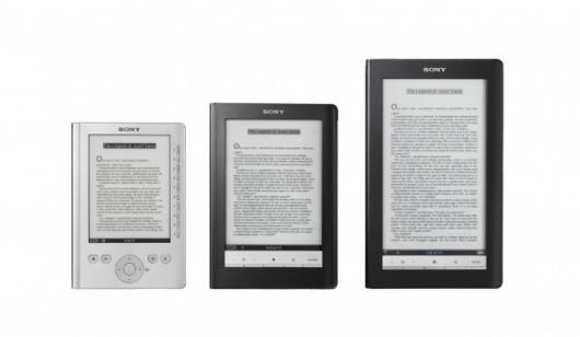 The new Sony Reader family (from left): the Pocket Edition, the Touch Edition and the Daily Edition eBook readers