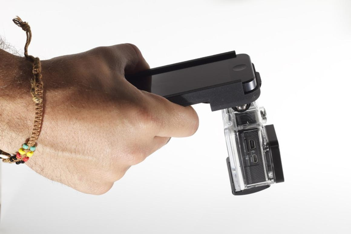 "The GoPhone lets an iPhone 5/5s and a GoPro Hero ""be as one"""