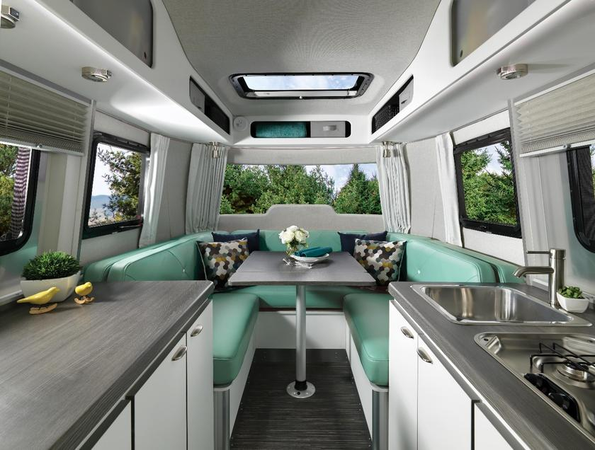 Airstream sheds its aluminum shell with the Nest fiberglass
