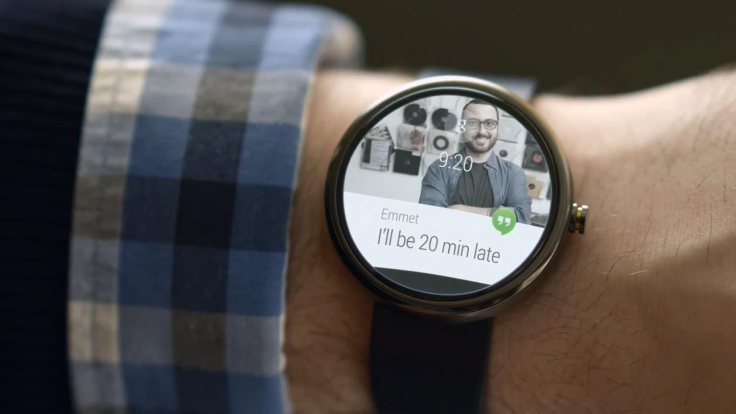 Hangouts messaging is another key component of Android Wear