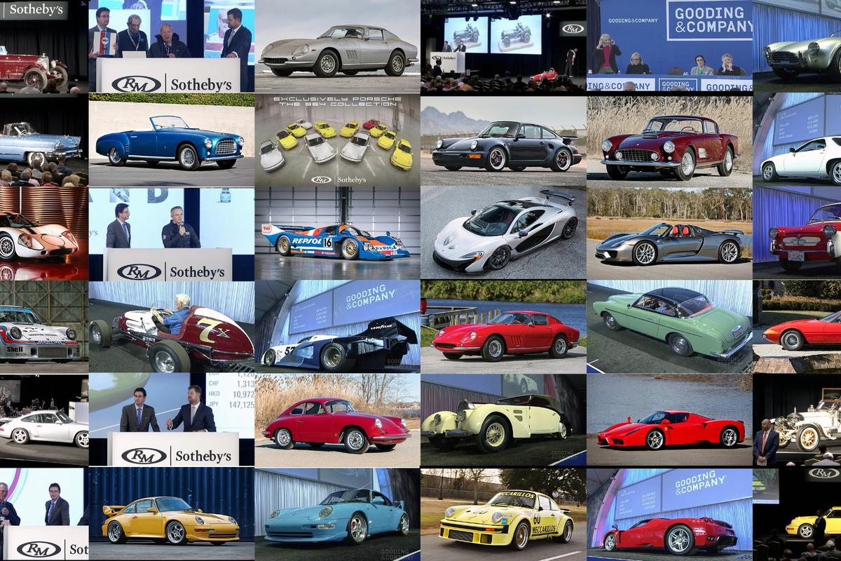 Every high bid or sale price for every car from the  of the 23rd annual Amelia Island Concours d'Elegance auction sales of Gooding & Company, Bonhams, and RM-Sothebys