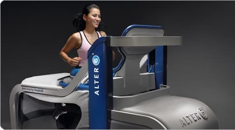 Train safely on the AlterG M300 treadmill