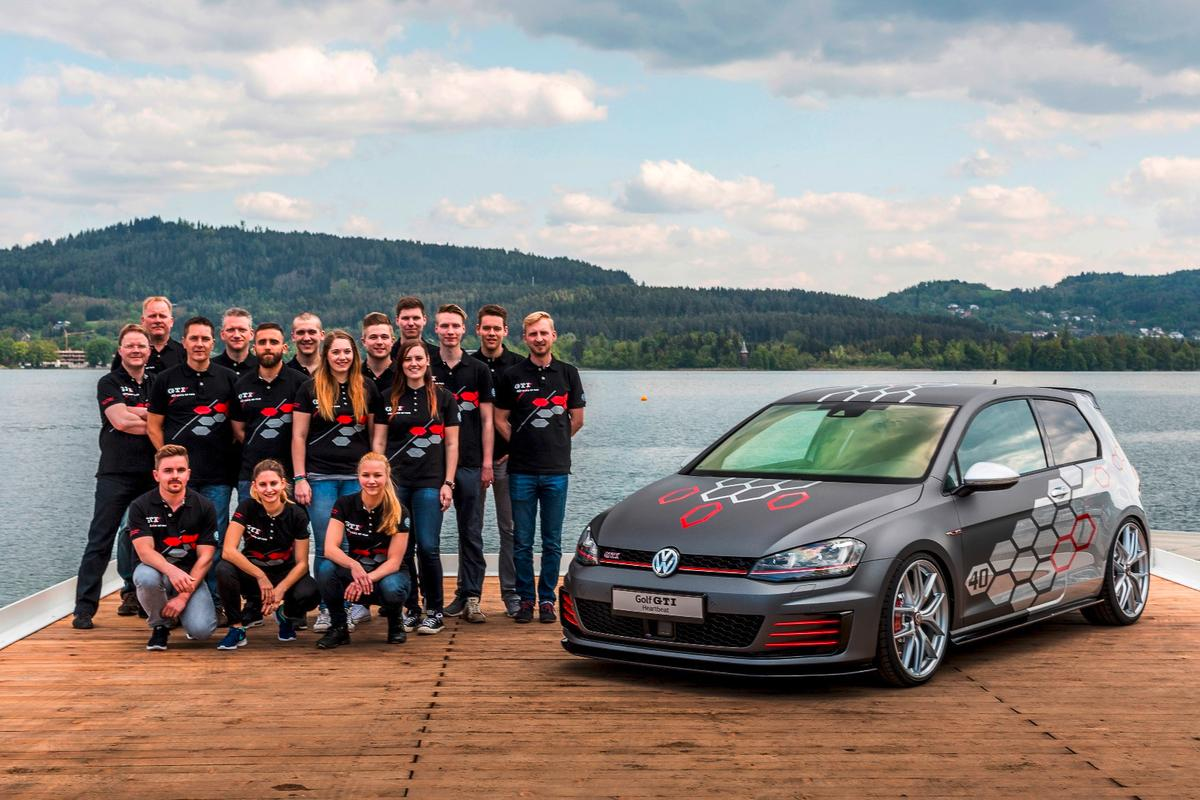 The team of apprentices behind Volkwagen's Golf GTI Heartbeat