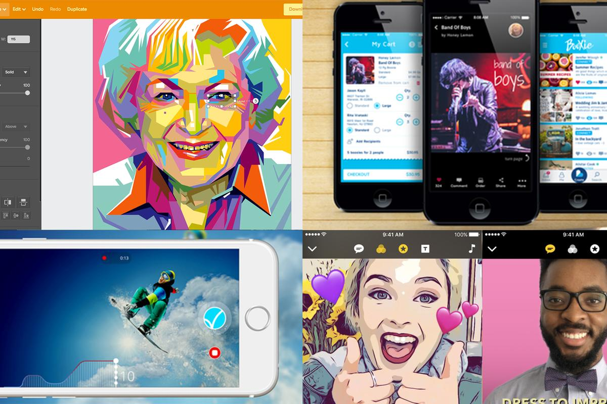 2017's best iOS and web apps that put their own spin on graphic design and video recording