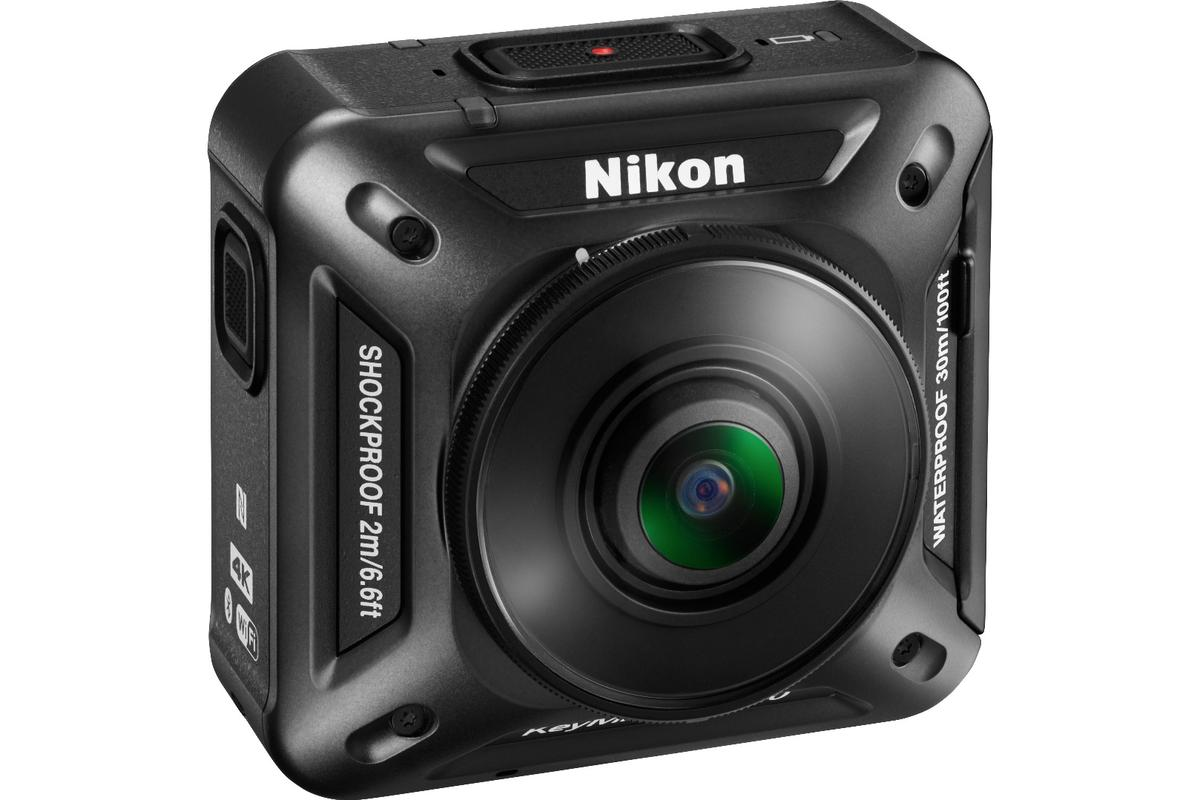 What's interesting about the KeyMission 360 is that Nikon is seemingly able to achieve 360-degree video with only two lenses