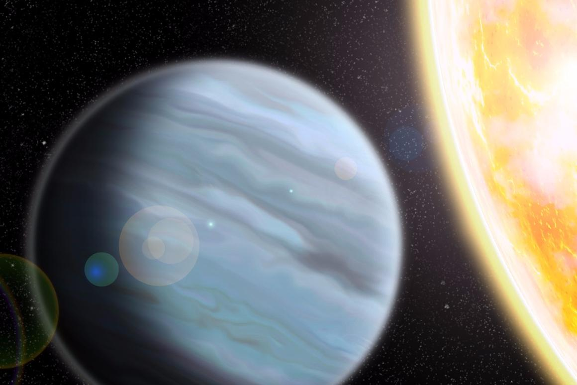 An artist's rendering of the exoplanet KELT 11b