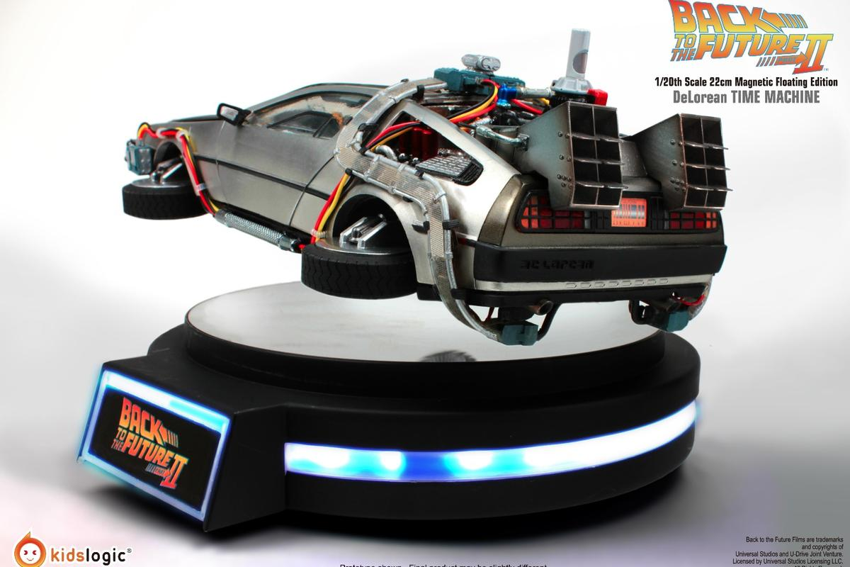 Scale model replica of the Back the the Future II hovering DeLorean