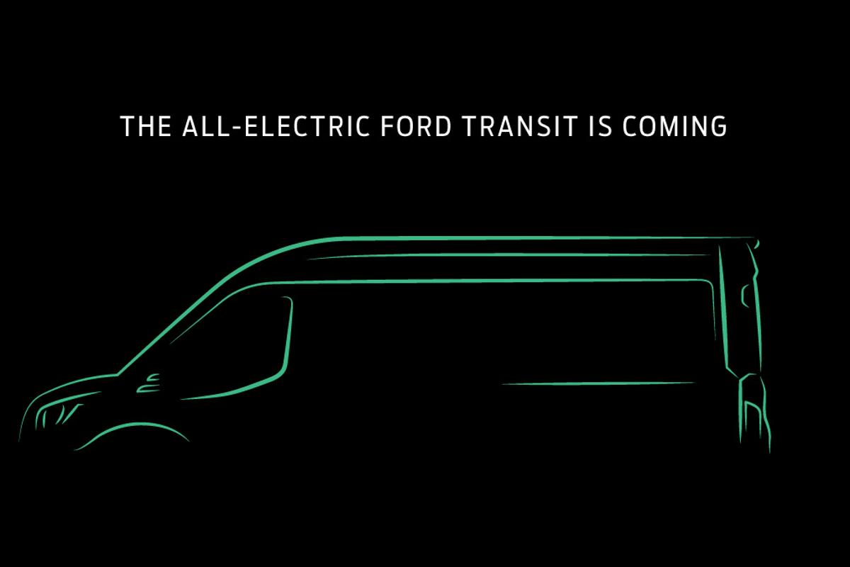 This teaser is all that's publicly visible for the Transit EV so far, but Ford is promising it's coming in 2022