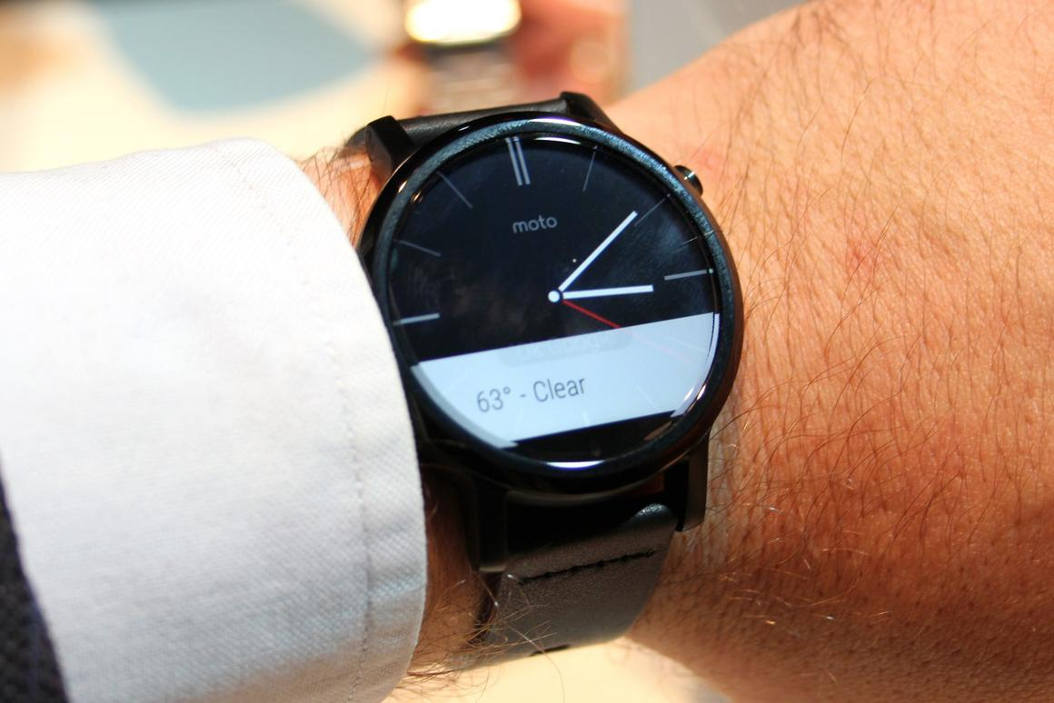 How does Motorola's new Moto 360 hold up in the flesh?