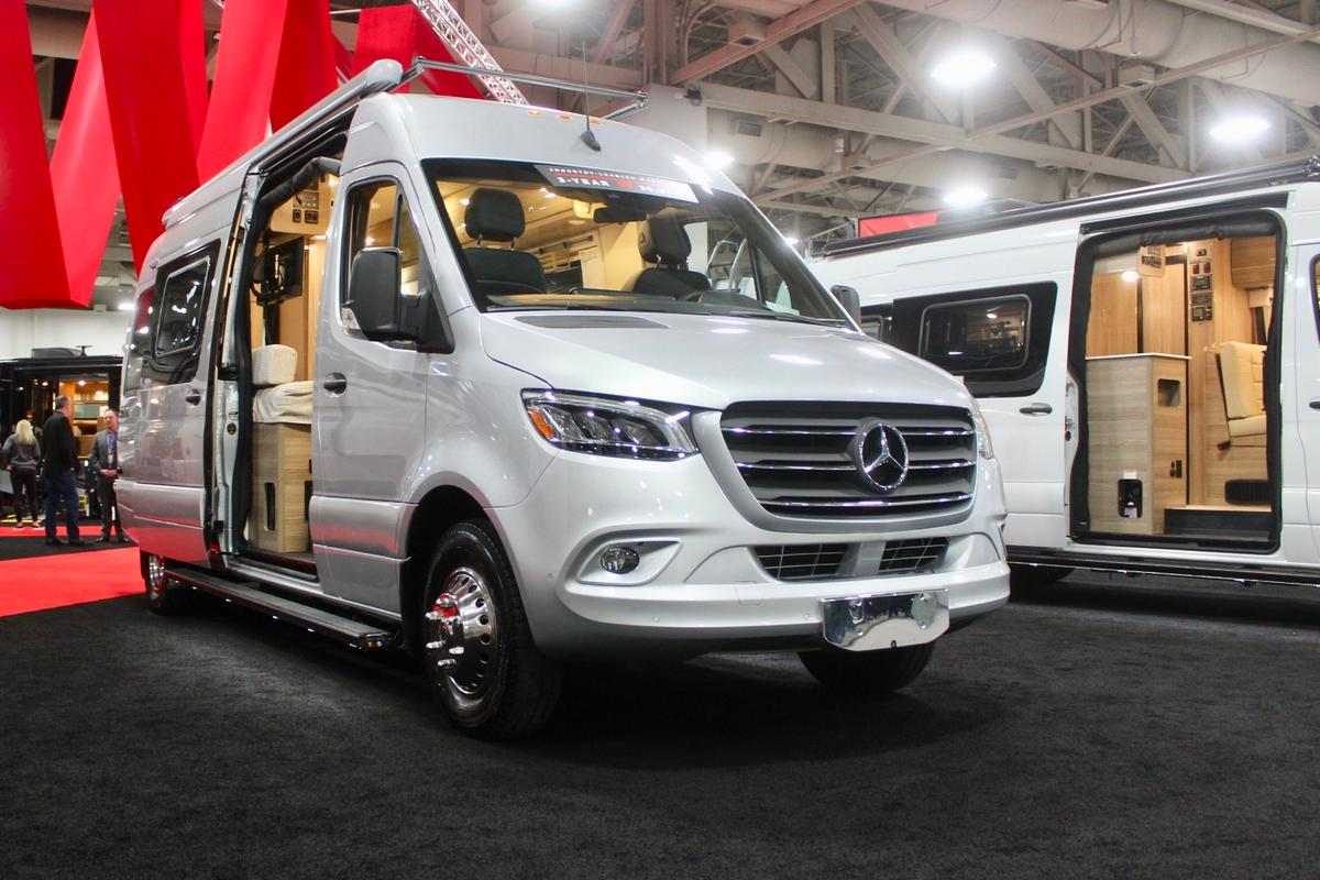 "The all-new Winnebago Boldt debuts at RVX, where it was also a Judge's Choice in the ""City Escape"" category of the Reveal competition"